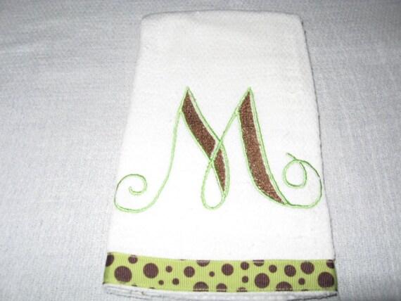 Burp cloth burp cloth diaper embroidered fancy loop script alphabet