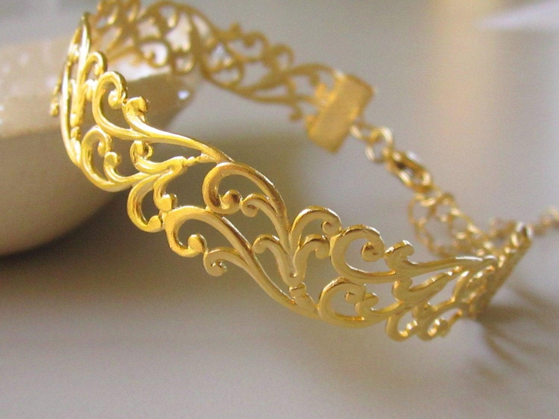 Vintage 18k Gold Link Bracelet Vintage 18k Gold Bracelet