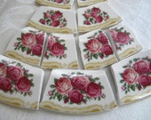 Broken China Mosaic Tiles - Gorgeous Rose Banners
