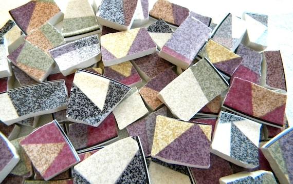 SALE-CLEARANCE - Mosaic Tiles Broken China - Palm Desert Soft Colors