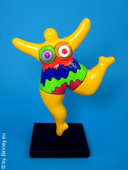 Colourfully painted nana sculpture freely based on the - Nana de niki de saint phalle ...