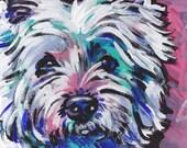 West Highland Terrier westie art print pop dog art 8.5 x11 inch print