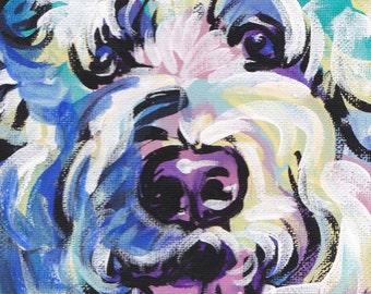 """Golden Doodle art print pop dog art bright colors 13x19"""" LEA"""