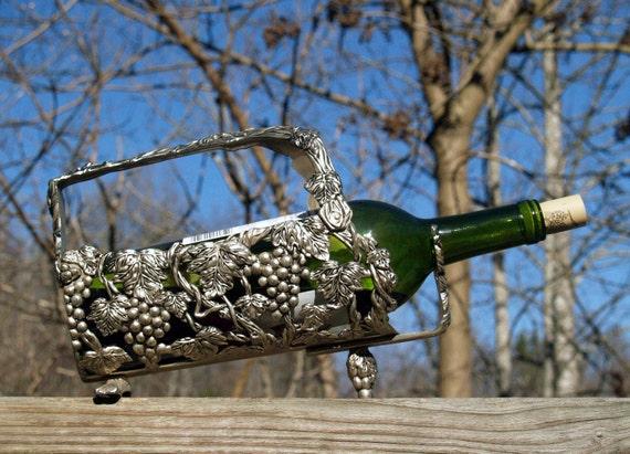 Vintage Wine Bottle Caddy Server