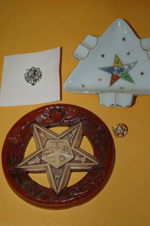 Lefton Masonic Mystic Order of the Eastern Star Membership Memorabilia
