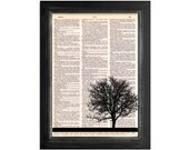 My Friend The Tree - Dictionary Art Print on vintage dictionary paper - 8x10.5 - Tree Art Print