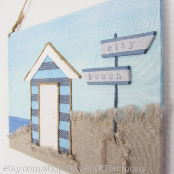 Beach hut decor beach hut sign beach decor 3d by for Beach hut designs