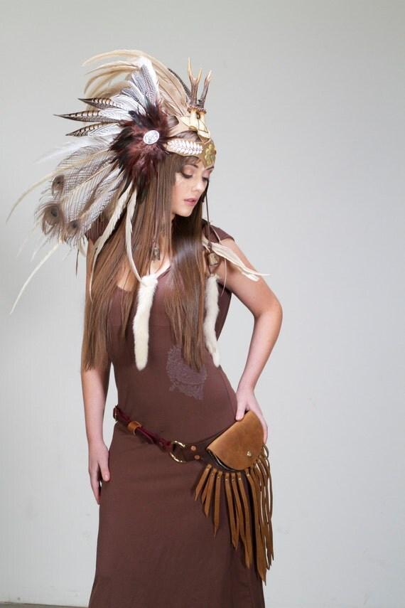 Reserved for Emily Morin- The Healer Feather Headdress