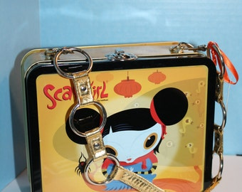 Altered metal lunch box Scarygirl Purse