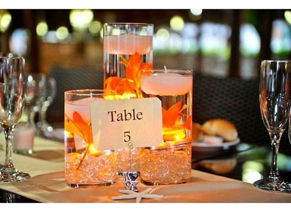 Floating candle wedding centerpiece kit orange by