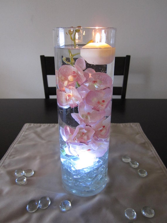 Items similar to pink orchid single cylinder centerpiece