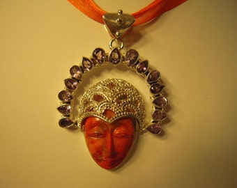 Strengthen And Align All Chakras by wear the...Orange Turquoise Goddess From Chile...ON SALE