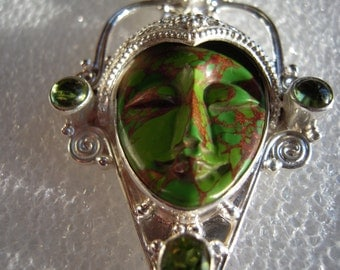 Wear The Gemstone Of Innocence the...Honorable Copper Green Turquoise Goddess...ON SALE