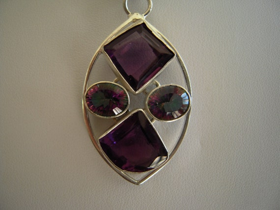 Wear The Stone Of True Love the...Desireable Amethyst And Mystic Topaz