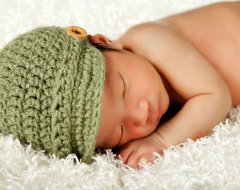 Crochet Newsboy Beanie. Newsboy Cap