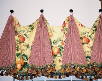 CUSTOM PLEATED VALANCE - Your Fabric Made-to-Order - Up to 48 Inches Wide