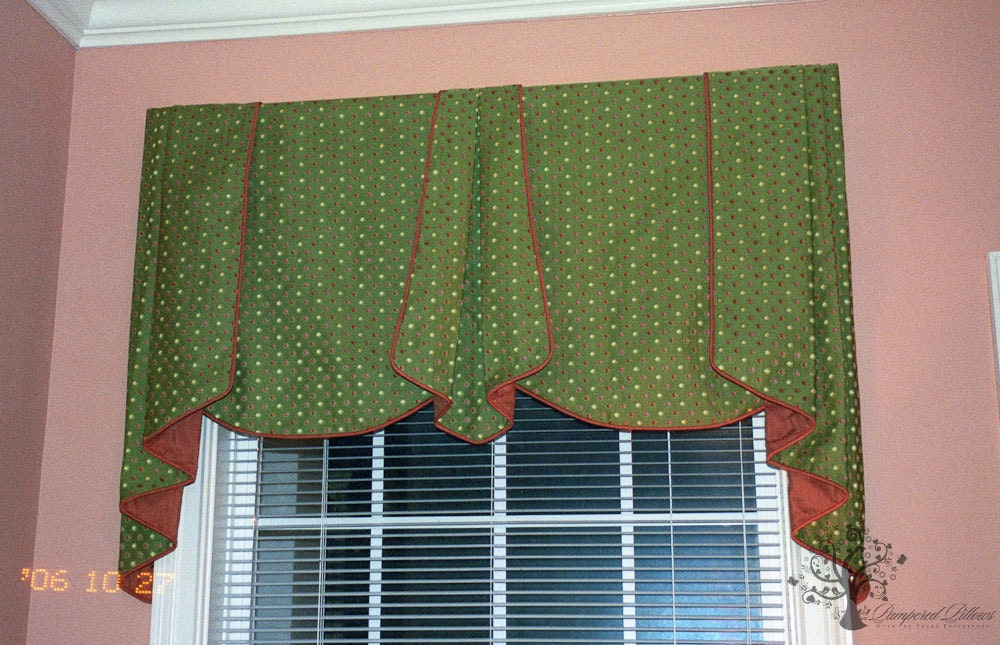 Custom Window Valance Your Fabric Made To Order Up To 48