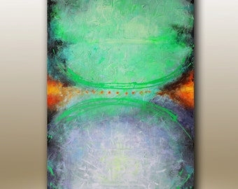 Art Painting  Abstract painting Between Red Dots ORIGINAL  Acrylic PAINTING on Canvas