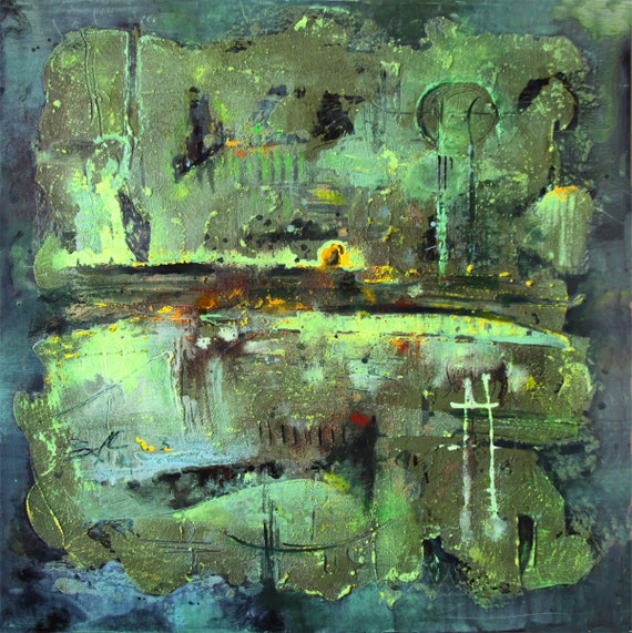 ORIGINAL ACRYLIC PAINTING Abstract Lanscape The Wall Painting