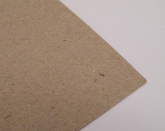 Eco 10 Sheets of A4 Rough Brown Kraft Card 280GSM