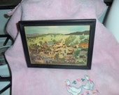 Grandma Moses Early Framed Lithograph of Painting 'Country Fair' Pre-Dates Depression Only 10 USD