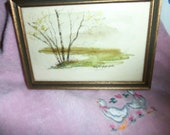 Original Watercolor Painting by Well Known Missouri & Smithsonian Exhibited Artist Edythe Gable 52 USD