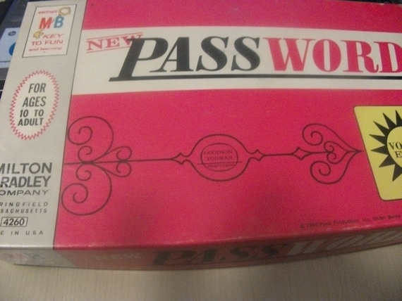 Vintage 1966 Milton Bradley Password Game states New on front of box Complete w Original Box Now ONLY 6 USD