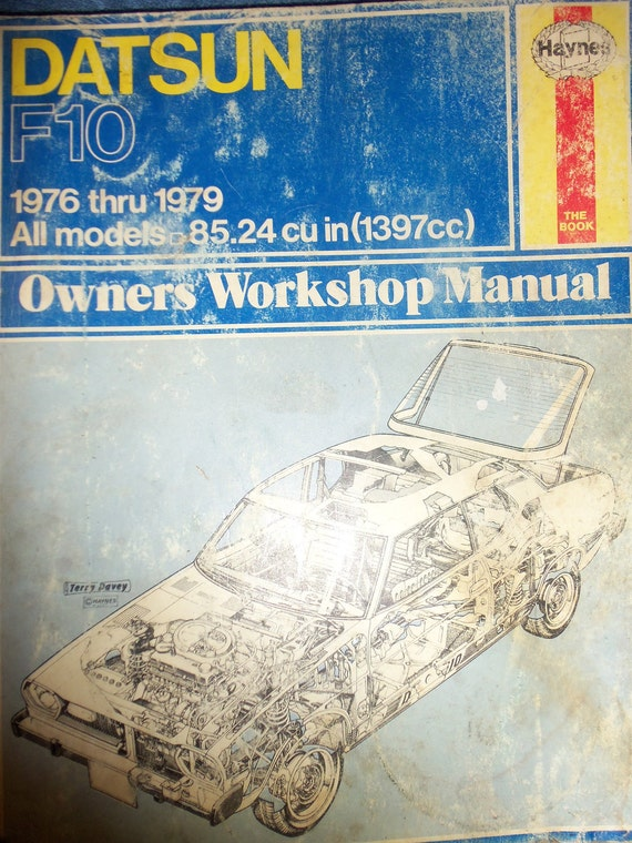 Private listing for Marjorie Vintage Datsun F10 Owners Workshop Manual for All Models from 1976-1979 Only 3USD