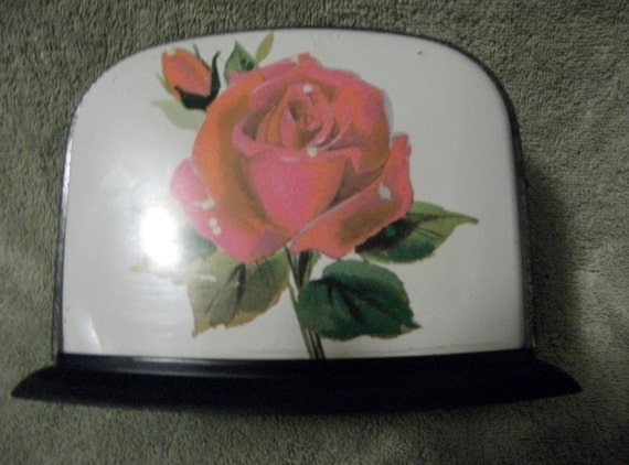 Vintage Collectible Child's Tin Toaster has Rose on Front made in 1966 by Ohio Art Only 8 uSD