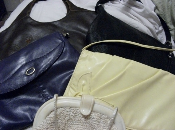 Private listing for Salisa Vintage Purse Lot FIVE Shoulder Bags, Each Completely Different in Style and Color ONly 8 USD