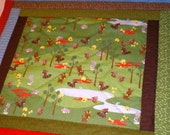 Bad Woods Quilted Stroller Baby Blanket