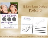 Lucky in LOVE Photo Save the Date SCRATCH Off Postcard Style SO3007 - Set of 25