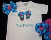 Custom Made Boutique Flip Flop T-shirt, Bow, and Flip Flops
