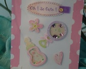"""Baby Girl Card - Newborn, Infant - Oh So Cute by """"The Perky Poet"""""""
