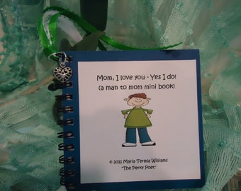 Mom Gift, Gift for Mom, Love You Mom - U Personalize Mini Book - Man to Mom, Mother