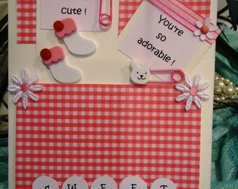 """Baby Girl Card - Sweet Cute Adorable, Infant, Newborn by """"The Perky Poet"""""""