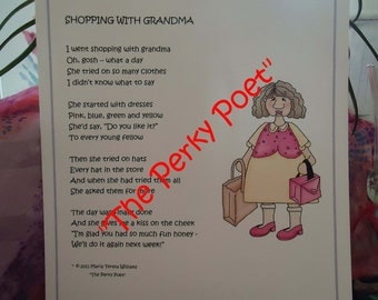 Popular Items For Grandmother Poem On Etsy