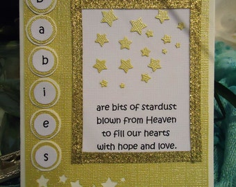 "Baby Card, Newborn, Infant - Babies bits of stardust by ""The Perky Poet"""
