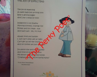 """The Joy Of Expecting  Boy, Cute, Pregnant - Pregnancy Poem by """"The Perky Poet"""""""