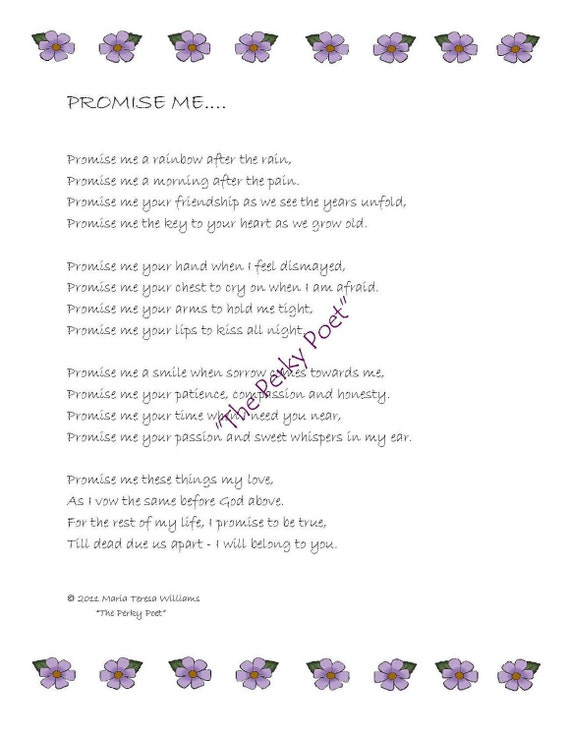 Love Poems For Wife From Husband   Love poems for wife ...  Love The Promise Poem