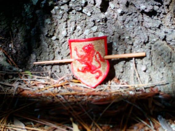 Scottish Lion Crest - Stick Barette (large)