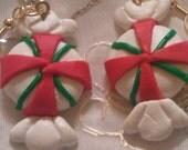 Christmas candy ornament earrings