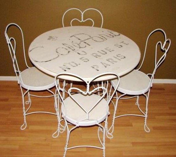 Table And Chair For Sale: SALE Very Nice 1920's Ice Cream Parlor Table And Chairs