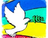 The Power of Dove. Peace to Streat art. Graffiti power By BooHu   Fine Art. Photograph. Print Only 5x5