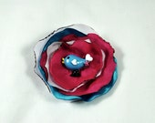 Pink, blue & purple bird Hair Clip for babies, toddlers and more
