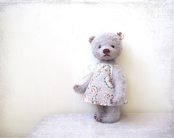 PATTERN Download to create Teddy Bear like Lavander Mary 8 inch whith Dress