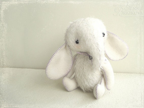 Artist Teddy Angel Elefant  6 inch white frend for you TO ORDER