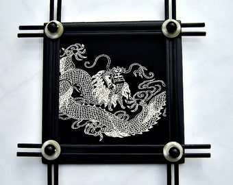 Decorative Tile - Dragon and Bamboo