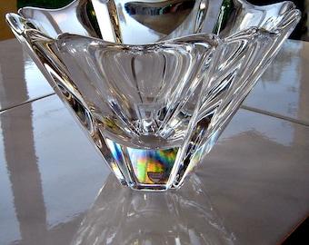 Vintage Orrefors Swedish Crystal Orion Bowl Signed w/label