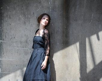 Plus size Black lace shrug (4 options shawl) shrug, shawl, twist and infinity scarf, plus size fashion (CL-ps)